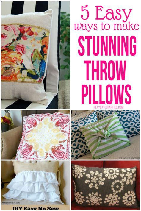 make your own throw pillows 5 easy ways to make stunning throw pillows