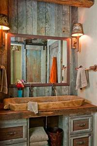 Badezimmer Retro Look : badezimmer in vintage look wandgestaltung mit holz rustikales waschbecken rustikale b der ~ Orissabook.com Haus und Dekorationen