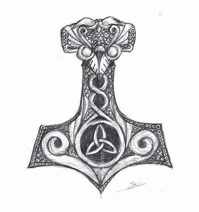 Tattoo Hammer Mjolnir Thor Tattoos Thors Viking