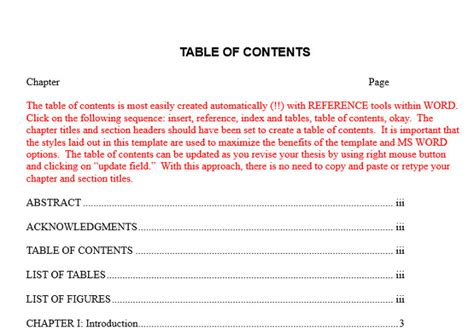 microsoft word table of contents 10 best table of contents templates for microsoft word