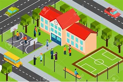 Clipart Sports Building Area Facility Vector Isometric