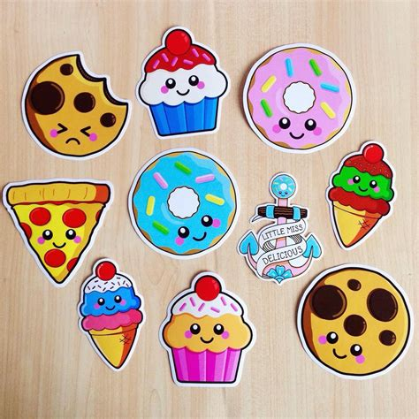 cuisine stickers 3 vinyl sticker set 10cm food stickers