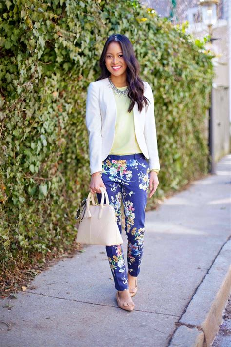Style up Your Formal Blazers with Your Floral Pants Ideas u2013 Designers Outfits Collection