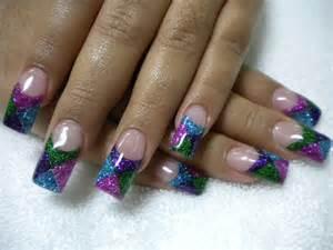 acrylic nail designs glitter nail designs acrylic nail designs
