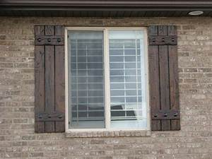 Rustic shutters custom exterior designs for Custom exterior shutters