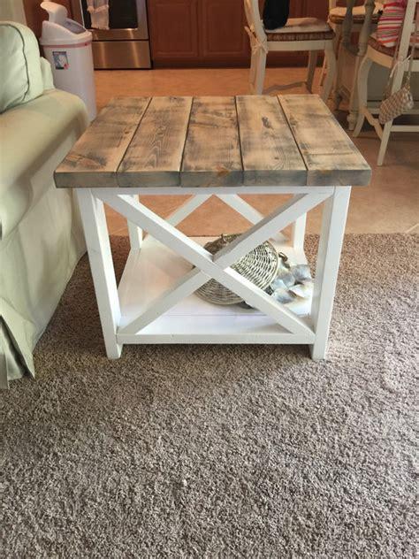 farmhouse style end tables custom rustic farmhouse end table