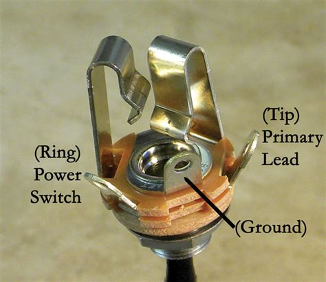 Guitar Input Wiring White Wire Positive by Guitar Shop 101 The Abcs Of Output Jacks Premier Guitar