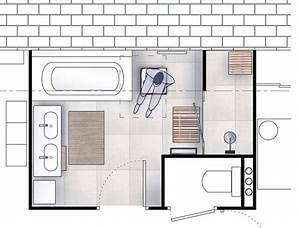 attrayant agencement salle de bain 6m2 1 plan salle de With plan salle de bain 6m2