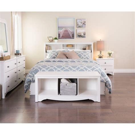 queen 5 piece bedroom set in white wdc 5pc pkg