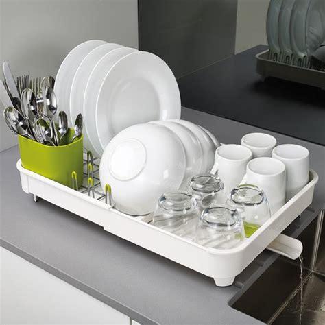 extend egouttoir 224 vaisselle extensible avec bonde joseph joseph blanc vert la casserolerie