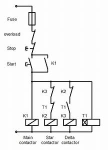 Control Circuit Diagram For Star Delta Starter