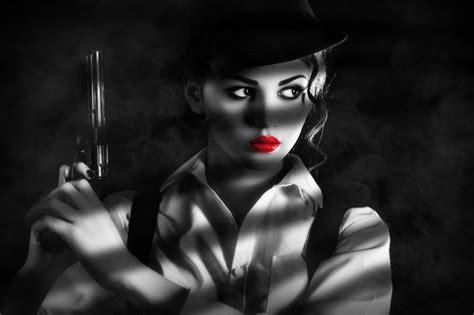 create  sin city style film noir effect