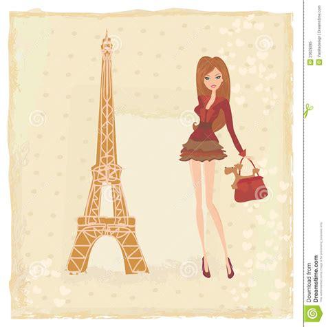 girl shopping  paris royalty  stock photo image