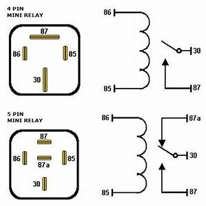 understanding automotive relays With 5 pin relay symbol