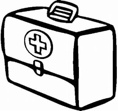 Clipart Coloring Medicine Printable Aid Drawing Clip