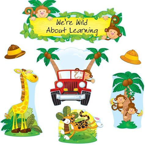 safari preschool theme jungle safari bulletin board set 469