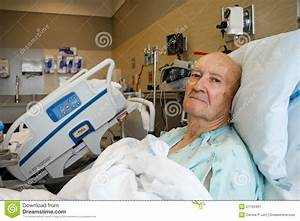 Patient Sitting Up In Modern Hospital Room Stock Image ...