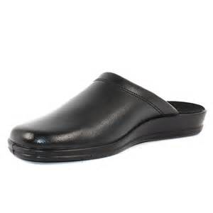 Men Leather House Shoes Slippers