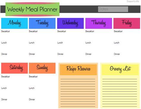 monthly meal planner template meal planner calendar calendar template 2016