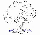 Tree Cartoon Draw Drawing Easy Step Coloring Pages Trees Printable Pencil Flower Drawings Easydrawingguides Grass Plant Monster Simple Side Leaves sketch template