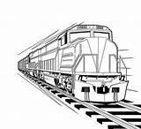 Coloring Train Locomotive Pages Diesel Bnsf Steam Print Kindergarten Trains Template Real Sketch sketch template