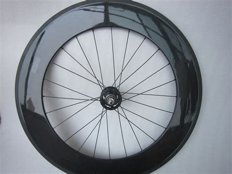Carbon Track Clincher Bike Wheel 88mm,only Rear Wheel