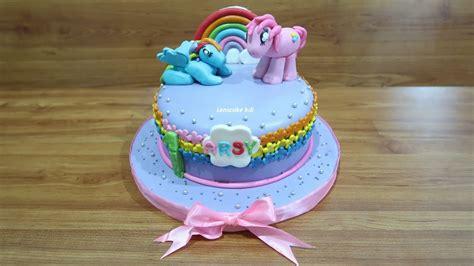 menghias kue ulang  kuda poni cantik youtube