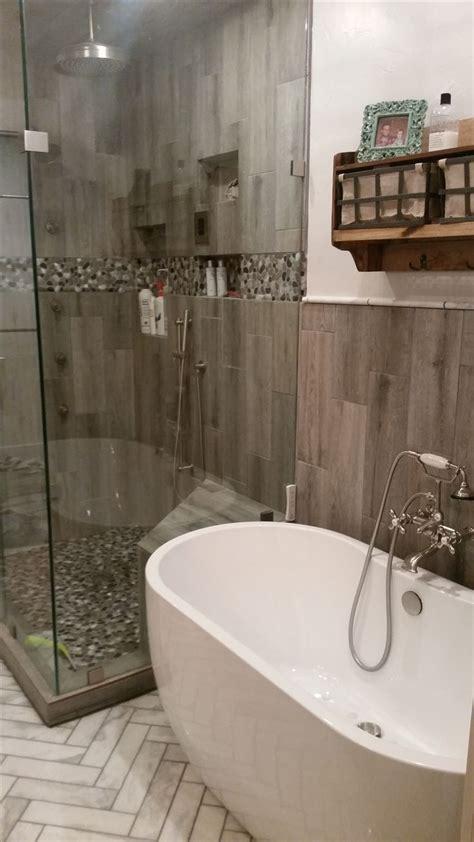 herringbone carerra marble floors steam shower  body