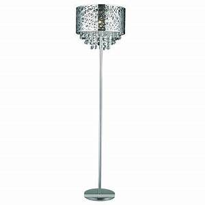 gen lite helix 1 light chrome floor lamp with crystals With chrome floor lamp canada