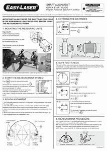 Easy Laser Shaft Alignment Quick Start Guide