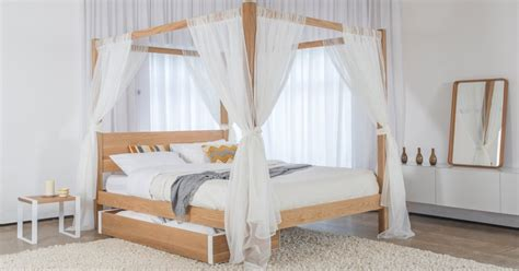 Four Poster Drapes - four poster bed curtains get laid beds