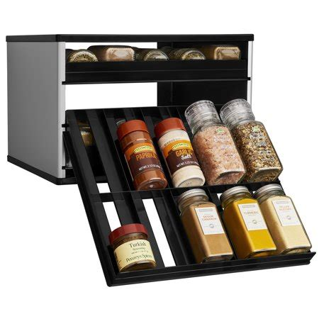 30 Spice Rack by Youcopia Spicestack Chef S Edition 30 Bottle Cabinet Spice