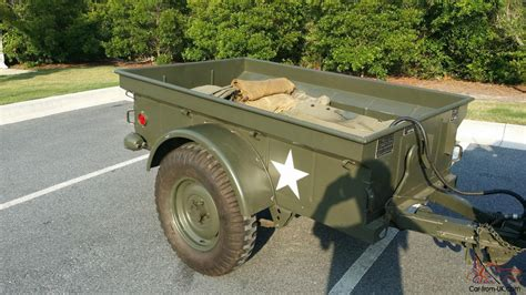 military jeep trailer restored 1952 m38 army jeep with 1952 m100 army trailer