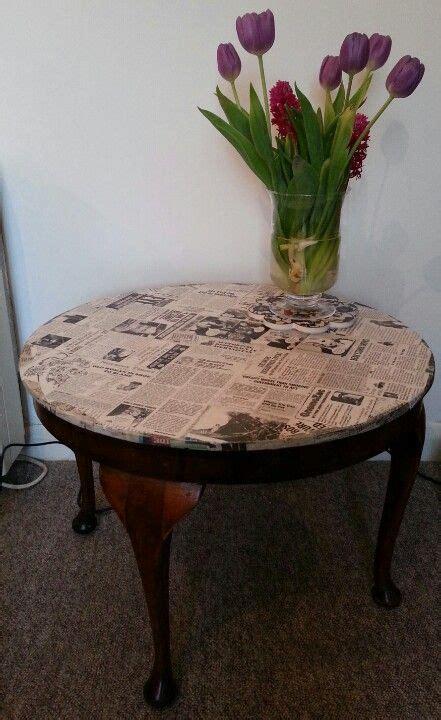 decoupage coffee table home decor pinterest
