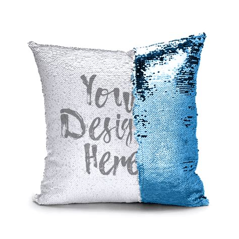 custom sequin pillows reversible magic flip