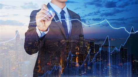 Business finance science and technology creative image ...