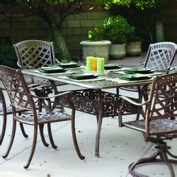 high quality darlee sedona 6 person cast aluminum patio