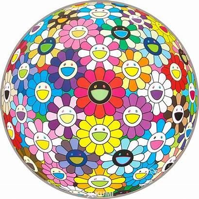 Murakami Takashi Flower Ball Multicolor Contemporary Japanese