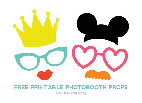 printable photo booth prop templates