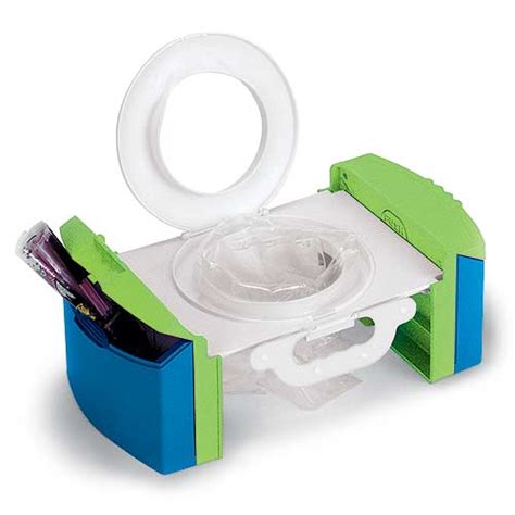 cool gear travel potty chair provides clean toilet for