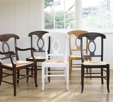 napoleon 174 dining chairs from pottery barn in white for the