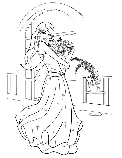 free printable barbie coloring pages pinteres