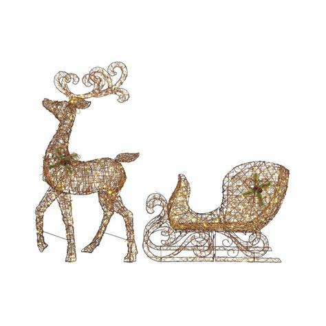 lighted grapevine reindeer outdoor christmas home accents 65 in led lighted grapevine reindeer and 46 in led lighted grapevine