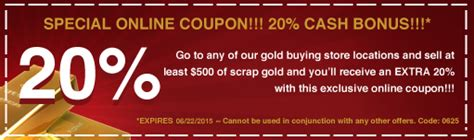 23441 Golden Standards Coupon by Pawn Shops Pawn Loans Gold Buyers Ny