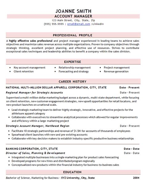 Effective Resume Sles by Professional Sales Resume Exle Clothing Apparel Store