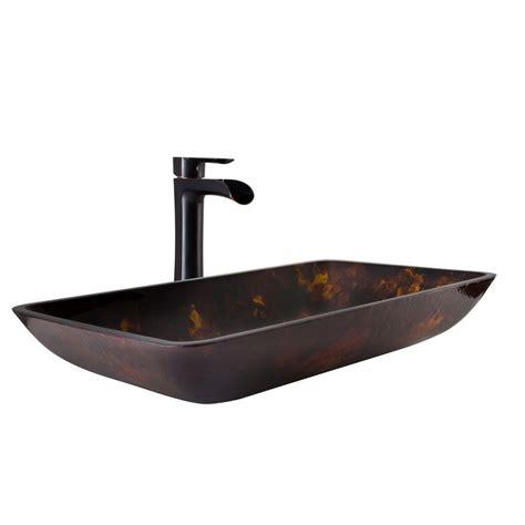 vigo vessel sink  brown  gold fusion  niko faucet