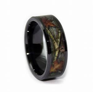 black camo wedding rings by one camo 8mm black rings With wedding rings for electricians