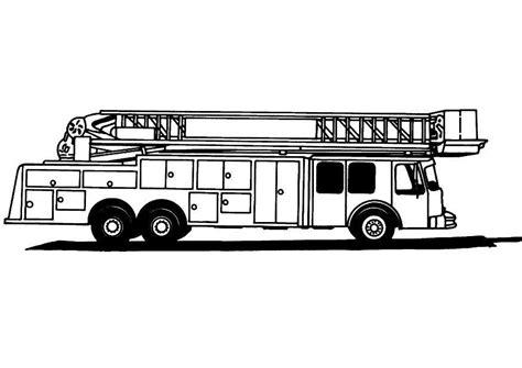 Kleurplaat Brandweerwagen2