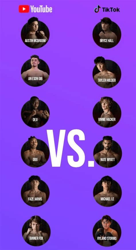 youtube  tiktok boxing card   fighting   event givemesport