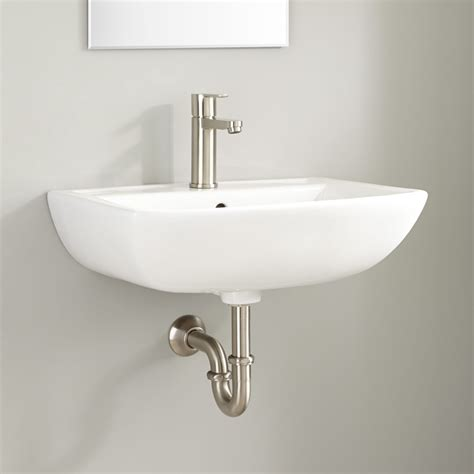 kerr porcelain wall bathroom sink bathroom